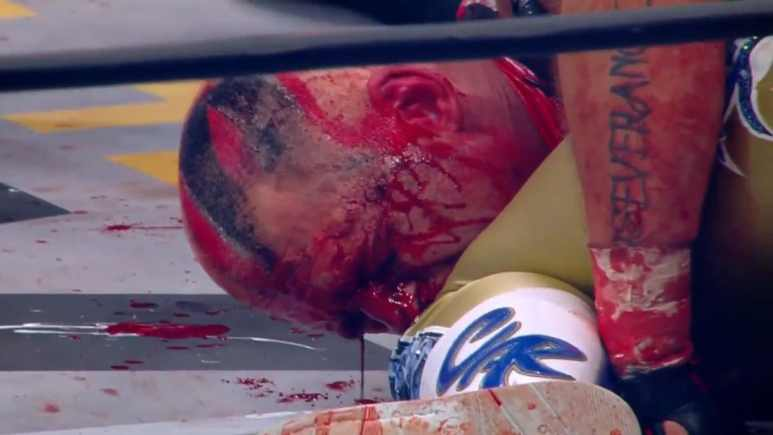 AEW Wrestling proves that they are not PG with blood filled battle