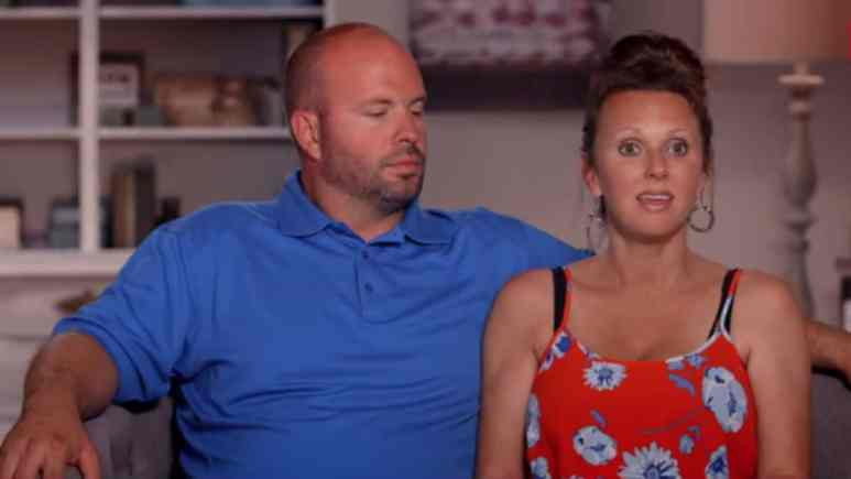 Eric and Courtney Waldrop during a Sweet Home Sextuplets confessional