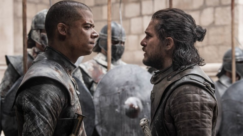 Grey Worm faces against Jon Snow after Danaerys' death