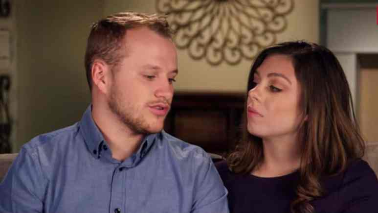 Lauren and Josiah Duggar during a Counting On confessional.
