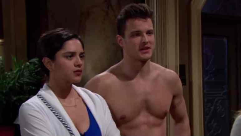 Sasha Calle and Michael Mealor as Lola and Kyle on The Young and the Restless.