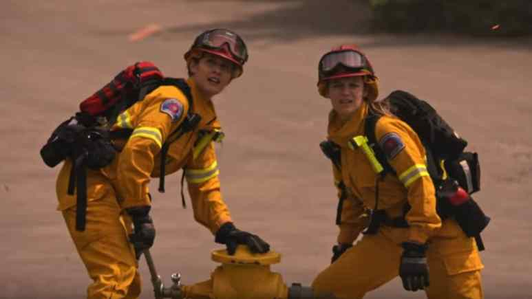 Station 19 season finale as cast fights California wildfire.