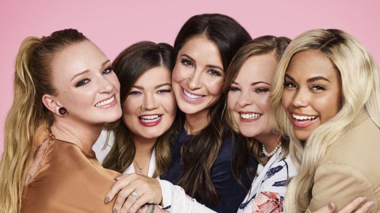 Teen Mom OG cast Maci Bookout, Amber Portwood, Bristol Palin, Catelynn Lowell and Cheyenne Floyd