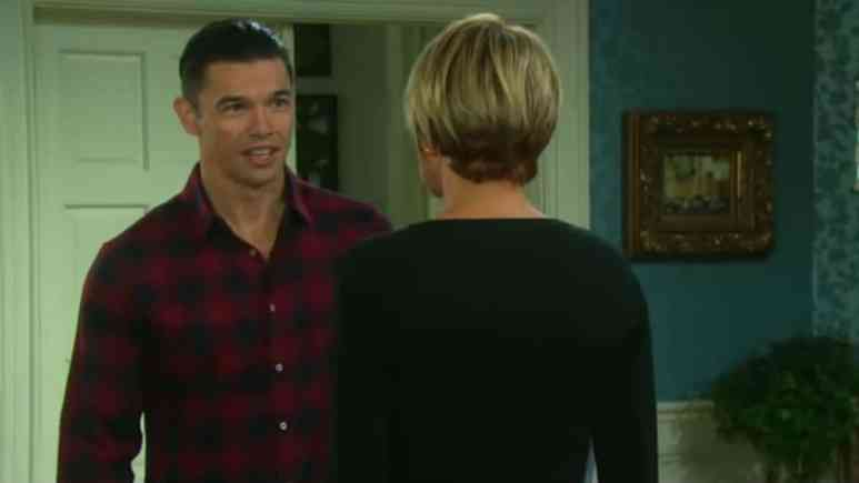 Paul Telfer and Arianne Zucker as Xander and Nicole on Days of our Lives.