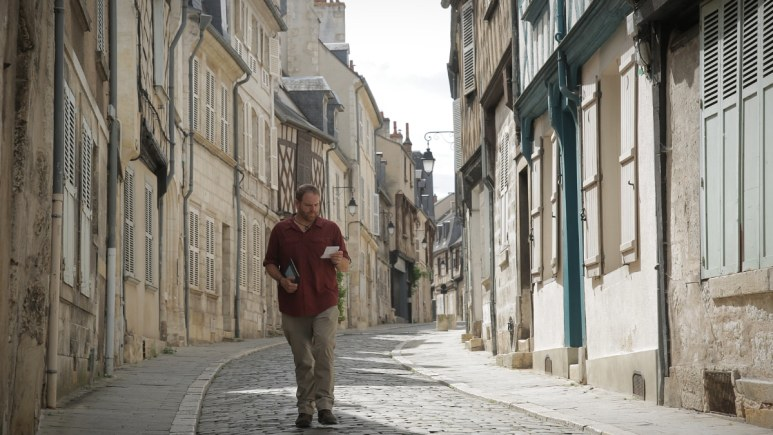 On the hunt for the Golden Owl of France, Josh Gates is in Bourges, France. Pic credit: Discovery