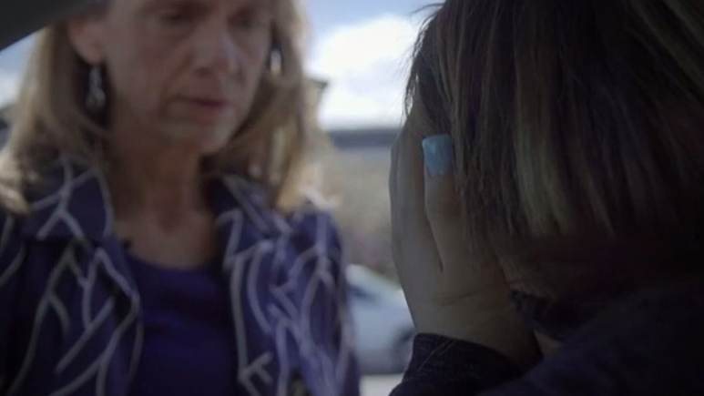One of the rescued trafficked women in FRONTLINE's documentary. Pic credit: PBS/FRONTLINE