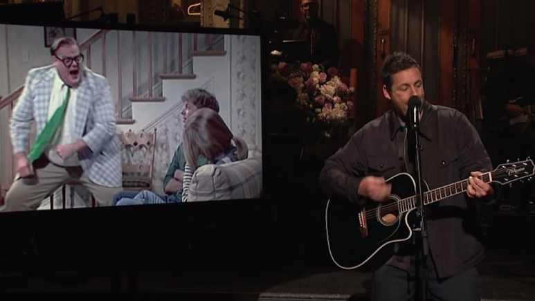 watch adam sandler chris farley tribute song