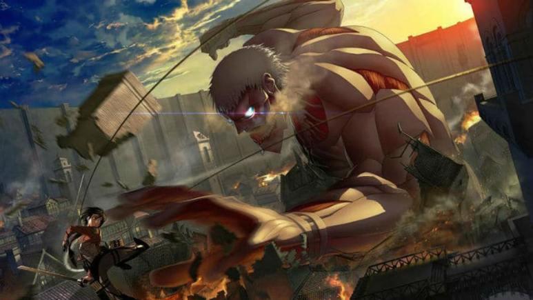 A scene from Attack On Titan