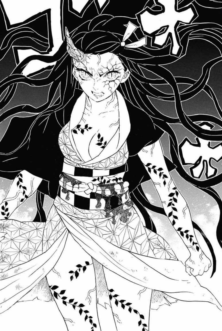 Demon Slayer Kimetsu no Yaiba Manga Nezuko Full Demon Transformation