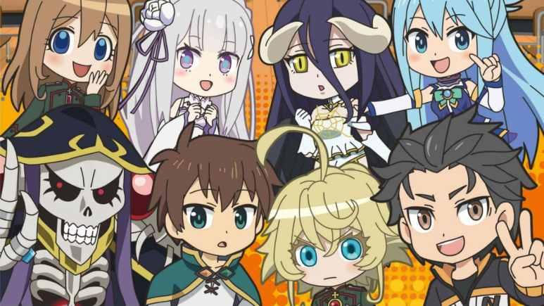 Isekai Quartet anime key art