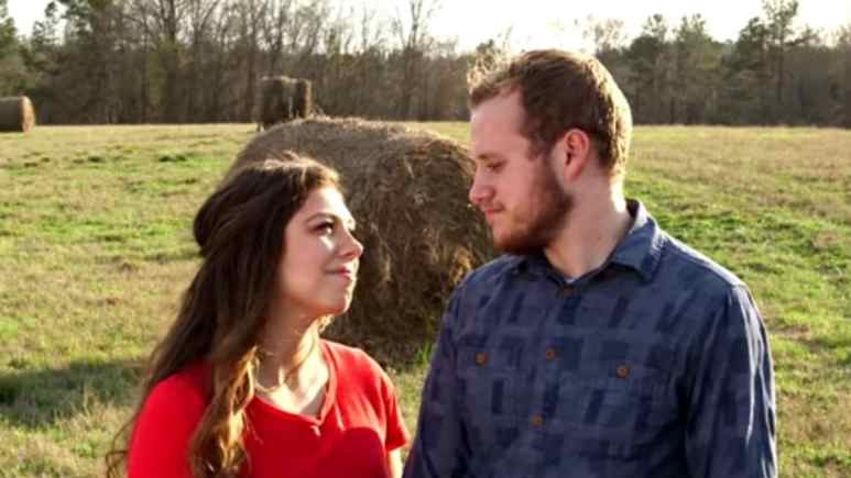 Josiah and Lauren Duggar during their engagement announcement.
