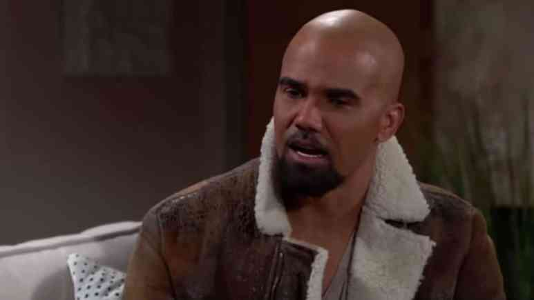 Shemar Moore as Malcolm Winters on The Young and the Restless.