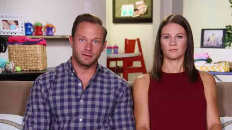 Adam and Danielle Busby in an OutDaughtered confessional