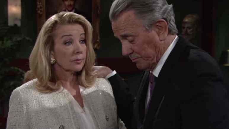Melody Thomas Scott and Eric Braeden as Nikki and Victor on The Young and the Restless.