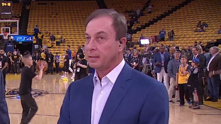 joe lacob appears on espn before warriors game