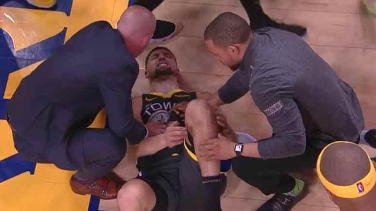 klay thompson suffers knee injury in game 6 of nba finals