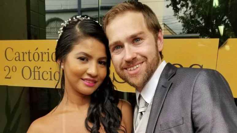 Paul and Karine at their wedding