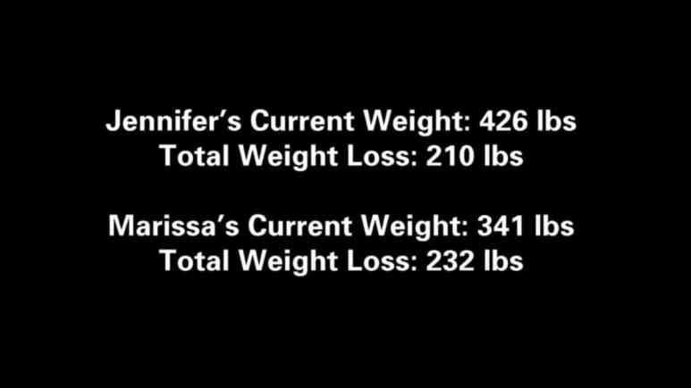 The end card of their episode-hopefully they are at the goal weight. Pic credit: TLC