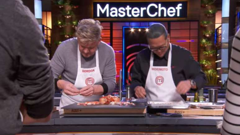 Chefs Gordon And Morimoto On MasterChef