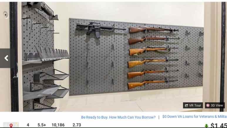 Gun collection in the Duggar family home.