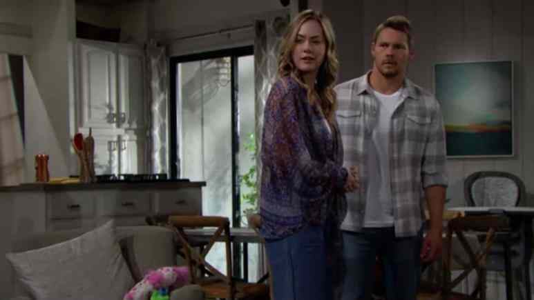 Annika Noelle and Scott Clifton as Hope and Liam on The Bold and the Beautiful.