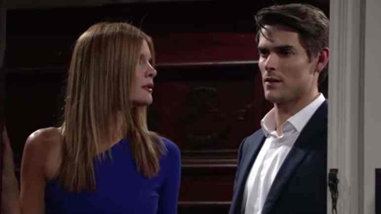 Michelle Stafford and Mark Grossman as Phyllis and Adam on The Young and the Restless.