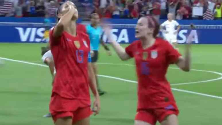 alex morgan celebrates her birthday goal against england in the world cup semis