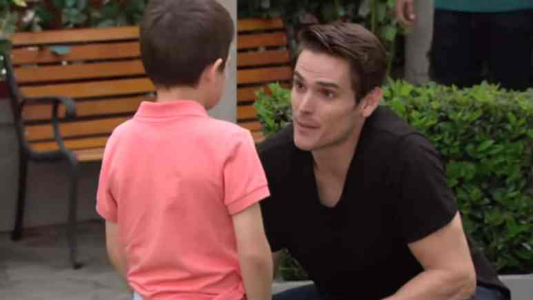 Mark Grossman as Adam on The Young and the Restless.