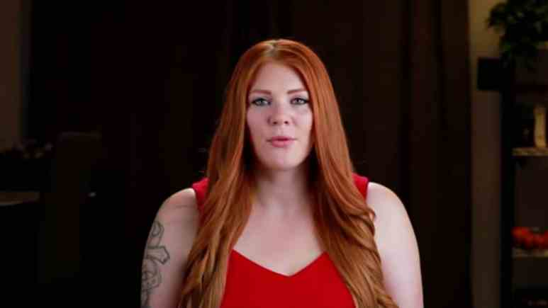 Brittany from Love After Lockup during her confessional.