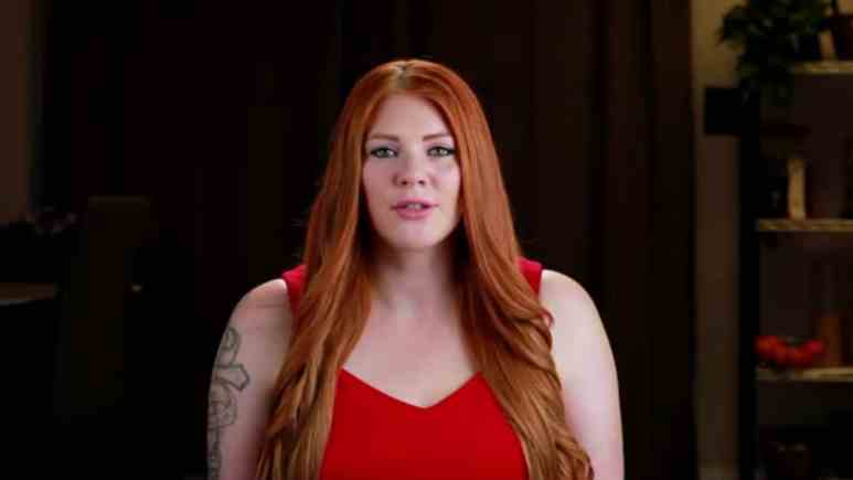 Brittany Santiago from Love After Lockup in a confessional.
