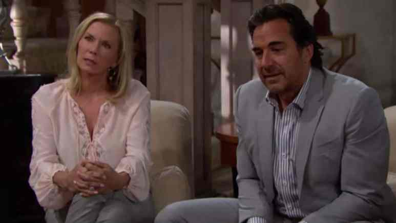 Katherine Kelly Lang and Thorsten Kaye as Ridge and Brooke on The Bold and the Beautiful.
