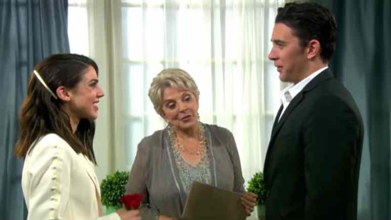 Billy Flynn and Kate Mansi as Chad and Abby on Days of our Lives.