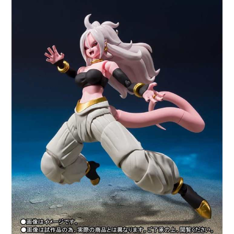 Dragon Ball FighterZ S.H. Figuarts Android 21. Pic credit: Big Bad Toy Store