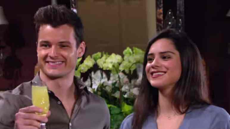 Michael Mealor and Sasha Calle as Kyle and Lola on The Young and the Restless.