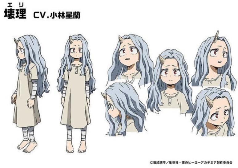 Character designs for Eri. Pic credit: Studio Bones.