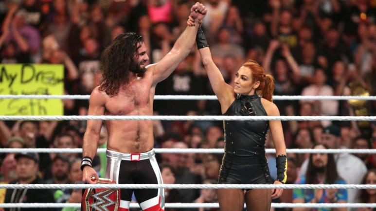 Seth Rollins asks Becky Lynch to marry him in a beachfront proposal