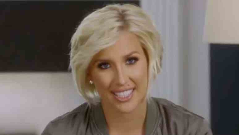 Savannah Chrisley in a Chrisley Knows Best confessional.