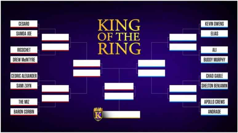WWE King of the Ring brackets: Who wrestles who in the first round of the tournament?
