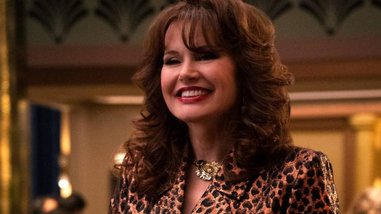Sandy supports GLOW and works with Bobby to keep the drag review going at the Fan Tan Pic credit: Netflix