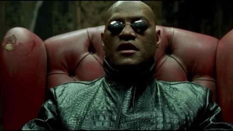 laurence fishburne as morpheus in the matrix series