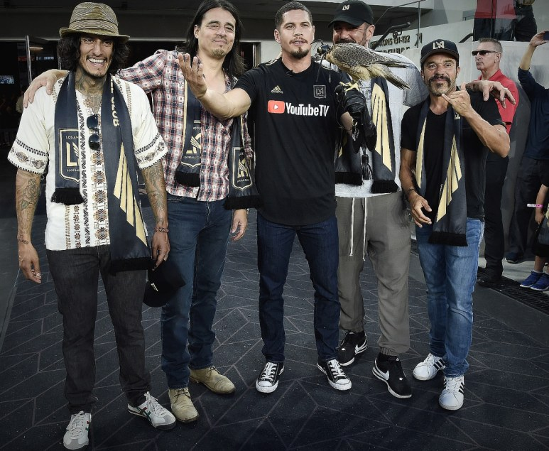 the gang is all here: Mayans come out to support the Falconers Pic credit: Scott Kirkland/FX
