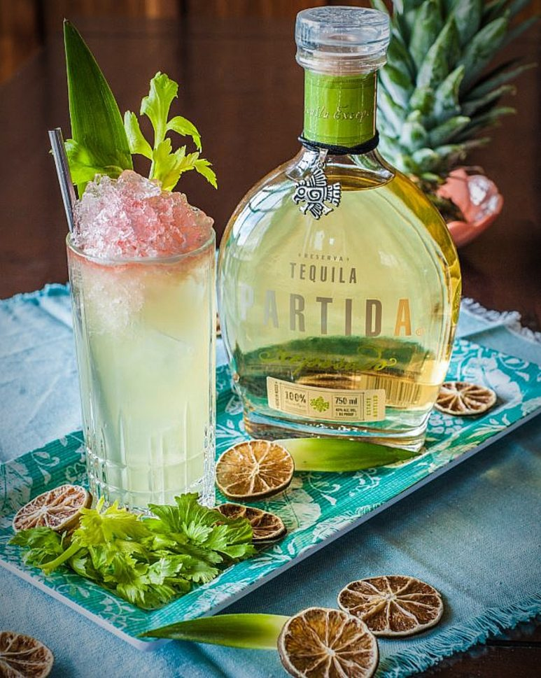 Tequila is a great rum swap for many Tiki inspired drinks with citrus. Pic credit: Partida