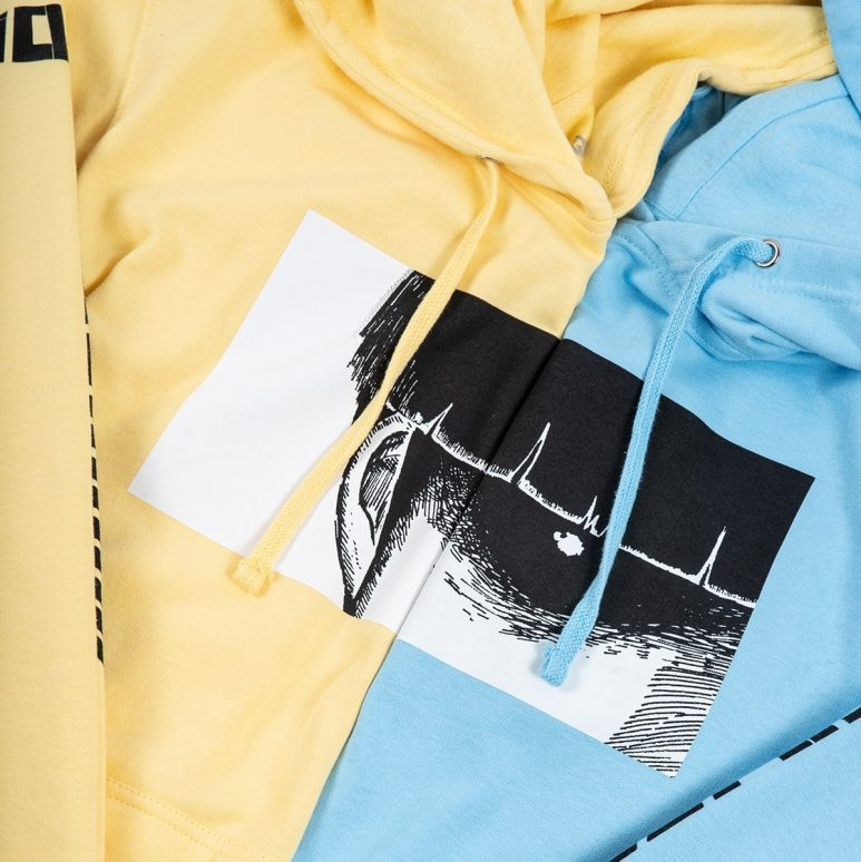 Yellow and Blue CR LOVES: Mob Psycho 100% Hoodies