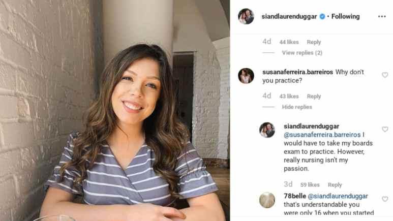 Lauren Swanson responds to questions on Instagram.
