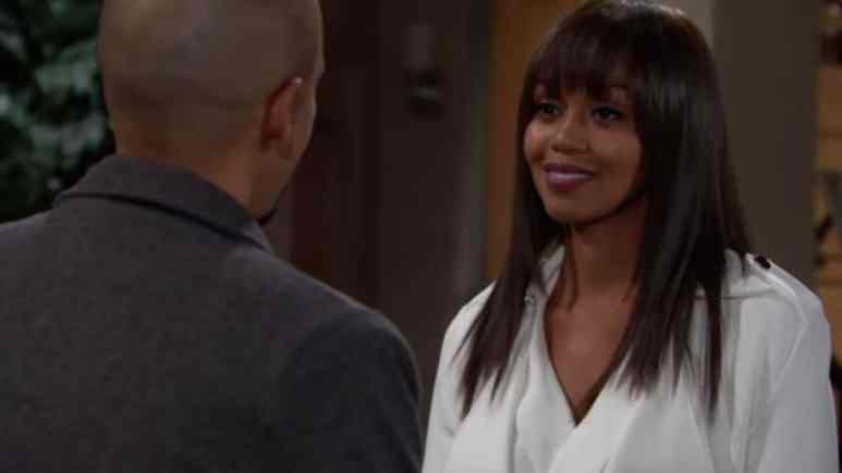 Mishael Morgan as Amanda on The Young and the Restless.