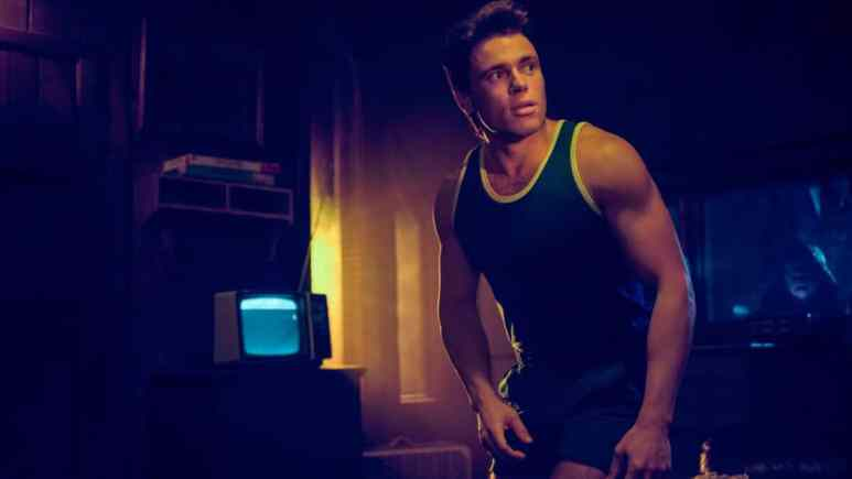 Promotional image for American Horror story 1984, featuring Gus Kenworthy as Chet