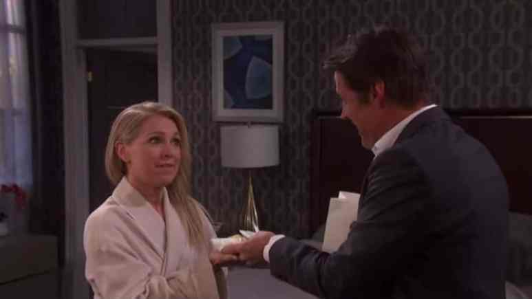 Melissa Reeves and Matthew Ashford as Jennifer and Jack on Days of our Lives.