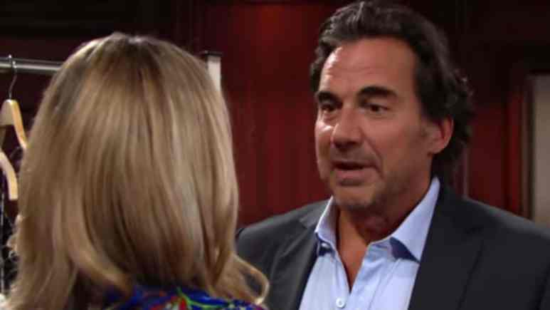 Denise Richards and Thorsten Kaye as Shauna and Ridge on The Bold and the Beautiful.