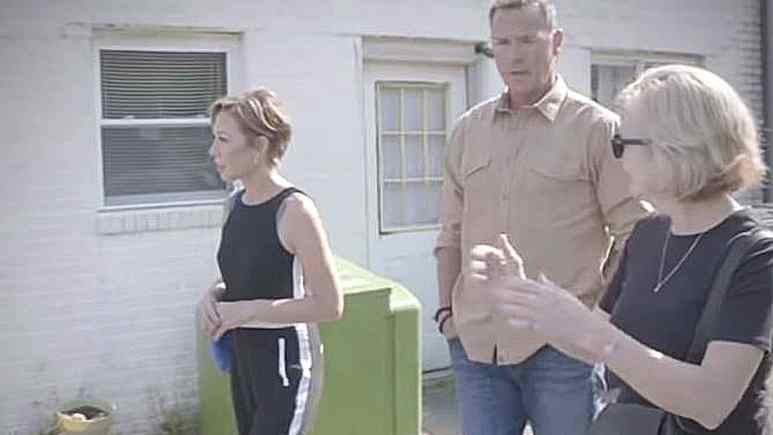 Lisa Joyner and Chris Jacobs walk with Deblasio as they unravel the Hicks babies mystery. Pic credit: TLC