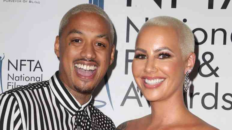 alexander edwards and amber rose together at National Film and Television Awards
